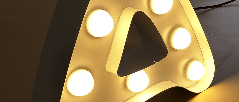 Custom 3D led channel letters wagner marquee letters mini light bulb letter sign