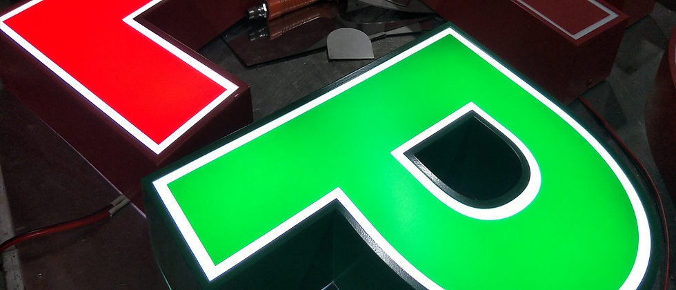 Open light LED letter signs acrylic face with stainless steel shell shop signs