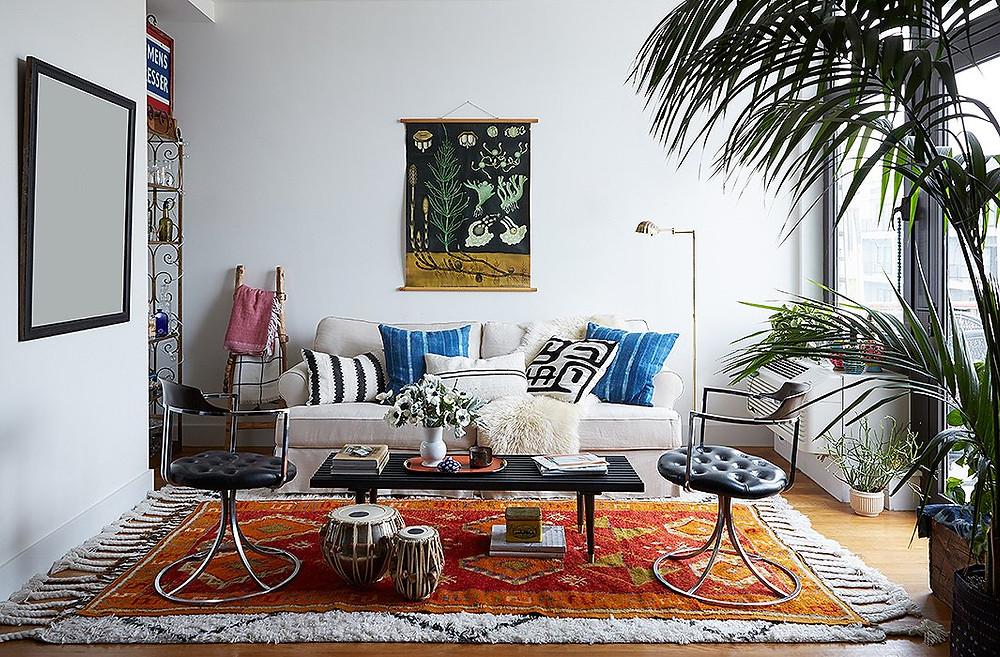 Oddly Shaped Living Room Idea