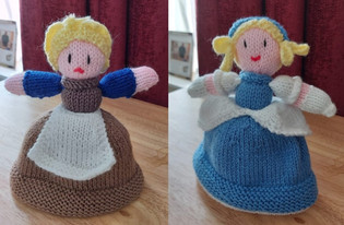 Reversible Cinderella Knitted Doll