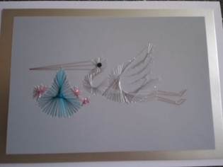 Embroidered card