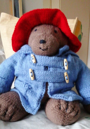 Knitted Paddington Bear