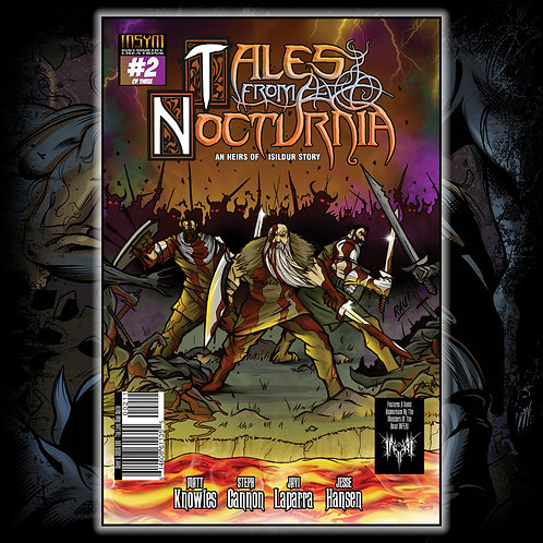 TALES FROM NOCTURNIA - Issue #2 of 3 (Chris Rau Cover: 'Battle At The Lava Moat'