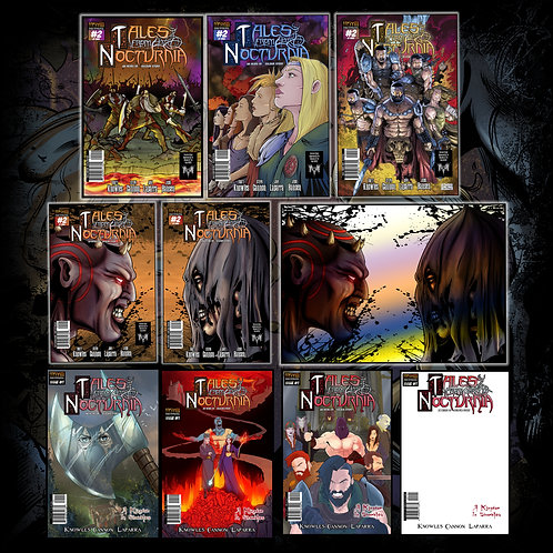 TALES FROM NOCTURNIA - Issue #1 & #2 (Collectors Pack ALL 10 COVERS!)