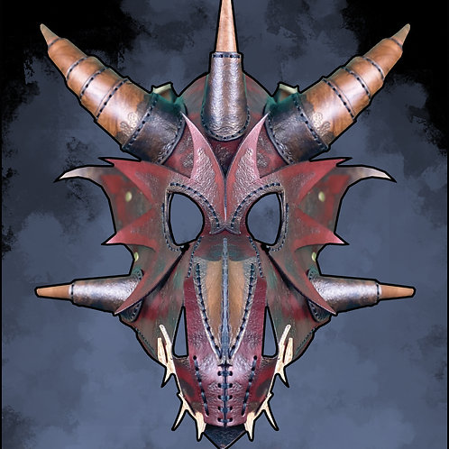 TALES FROM NOCTURNIA 'DRAGON LORD' Leather Mask!