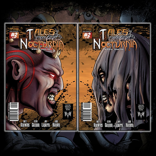 TALES FROM NOCTURNIA - Issue #2 of 3 (Silverbax Covers: 'Faceoff' Both Sides!)