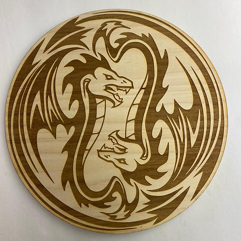 TALES FROM NOCTURNIA 'DRAGON LAIR ICON' Wood Plaque