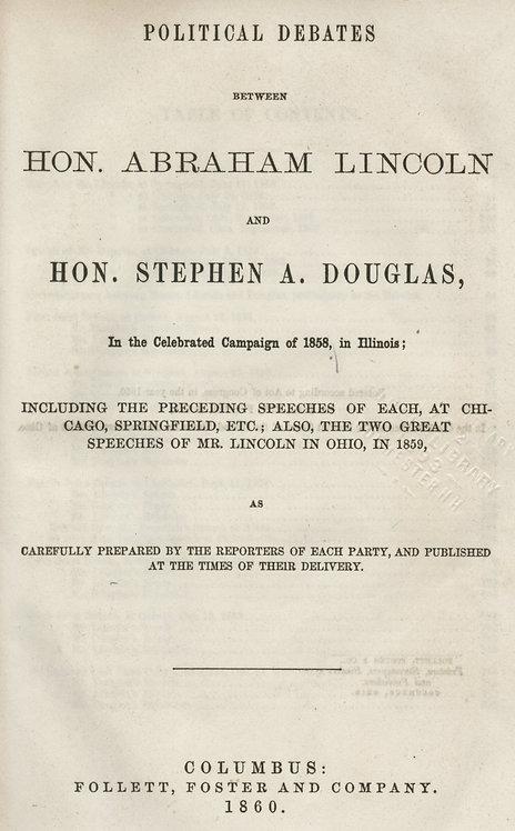 Lincoln Douglas Debates 1860