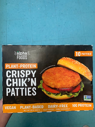 Alpha Crispy Chik'n Patties 10 pack