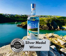Solva Gin Silver Medal Win