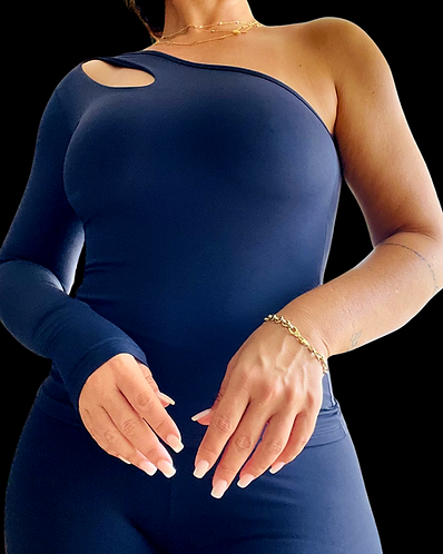 """""""One Shoulder Drop Style"""" Crop  - one size"""