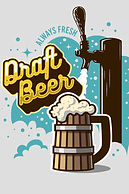 89836004-draft-beer-tap-with-wooden-mug-