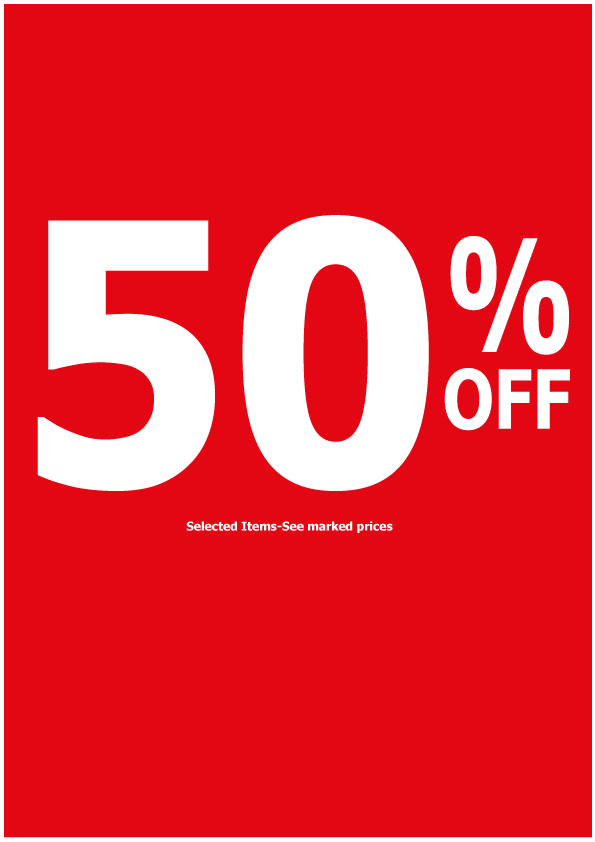 Bespoke 50% off poster size A1