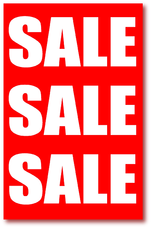 sale posters and signs for shops and retail