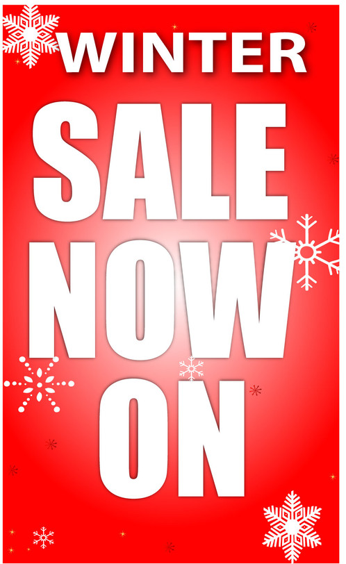Large Winter Sale 1000mm X 500mm Posters Signs Bury