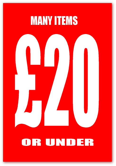 Many Items £20 Or Under Posters