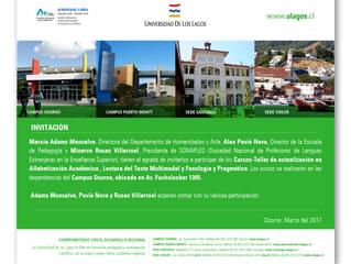 Cursos de Actualización dictados en Universidad de Los Lagos