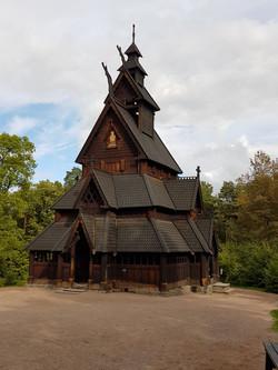 Kirche aus Holz Wikinger