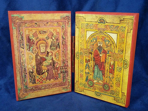 Diptych Icon of Christ & Theotokos The Book of Kells
