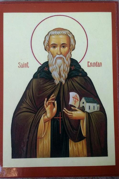 St. Brendan the Navigator Icon