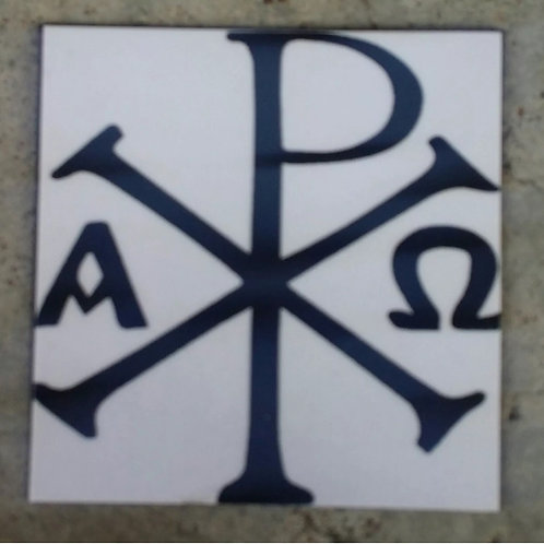 Chi-Rho fridge magnet