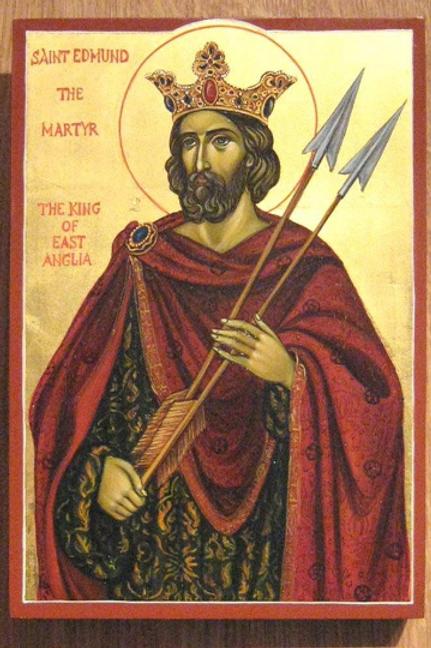 Saint Edmund King Of East Anglia Icon