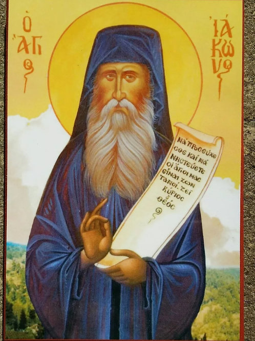 Religious Icon of Eastern Orthodox Saint Iakovos