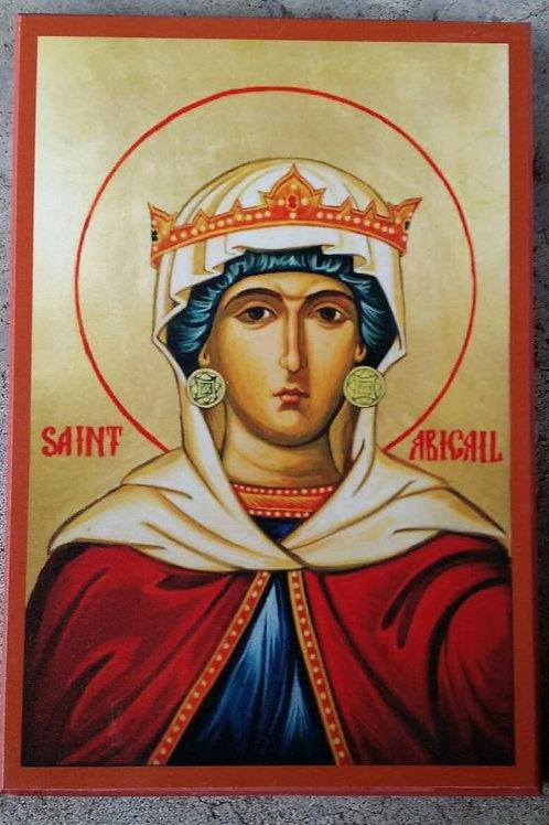 Religious Icon of Saint Abigail the Beekeeper