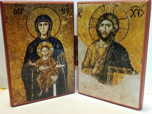 Diptych Icon of Christ & Theotokos from Hagia Sophia