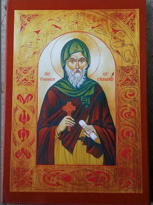 St. Finnian of Clanard Icon