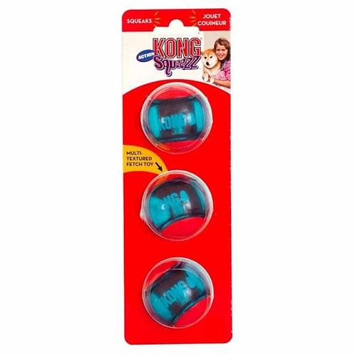Kong Squeez Action Ball - 3 pk