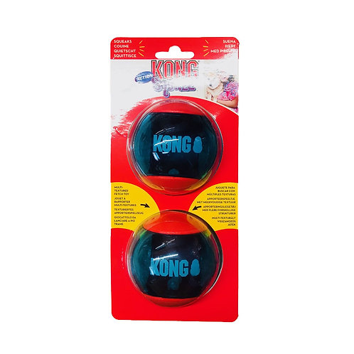Kong squeez action red large 2pk
