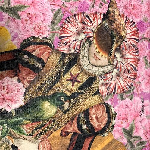 ハンカチ 貝婦人の肖像