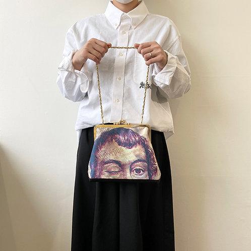 にょっきりカスパーくん(がま口バッグ)