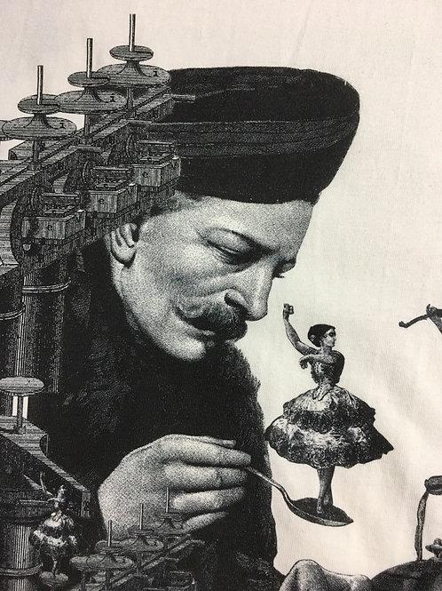 紅茶を飲もうとするグルジェフを邪魔する妖精たち。または、構成主義的に見えるだけ。・ユニセックス