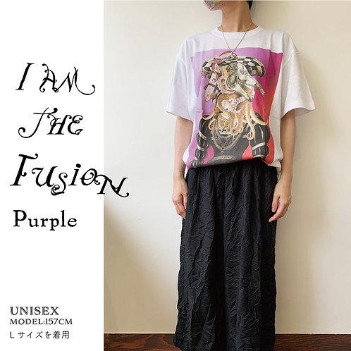 融合した婦人の肖像・purple
