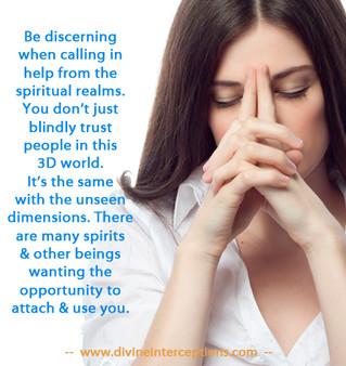 The danger of calling in spiritual help