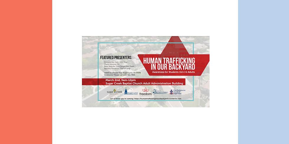 Human Trafficking in our backyard
