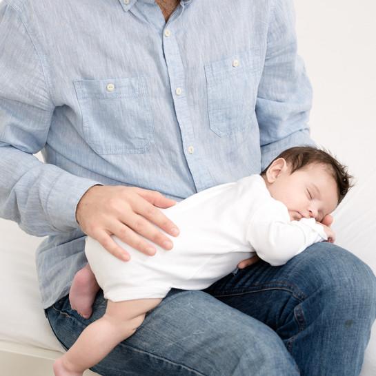 Vater mit Baby