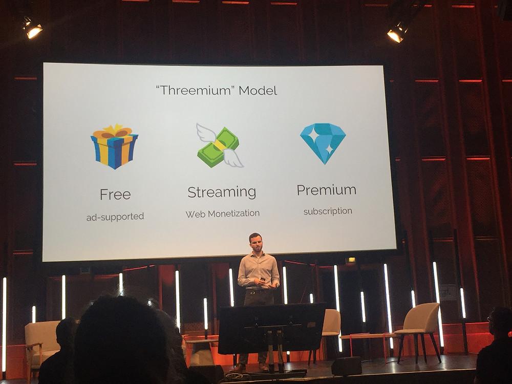 """In Zukunft soll es im Internet ein """"Threemium"""" Modell für Bezahlungen geben"""