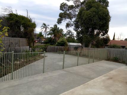 Plain Concrete with step down