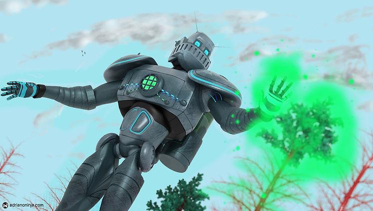robot, steampunk, concept art, biogen, adriano ninja