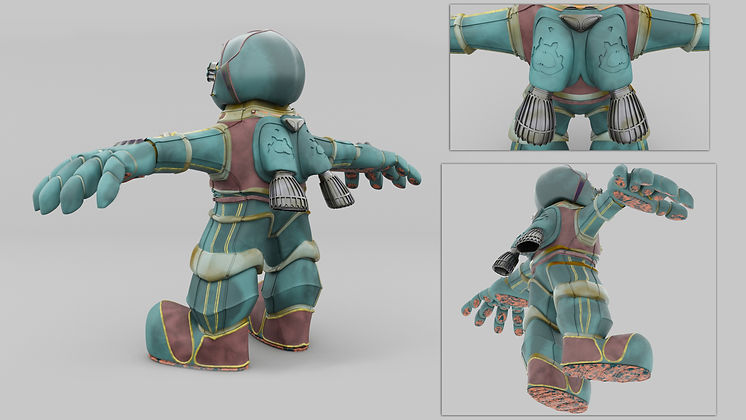 robot, steampunk, concept art, amphibious