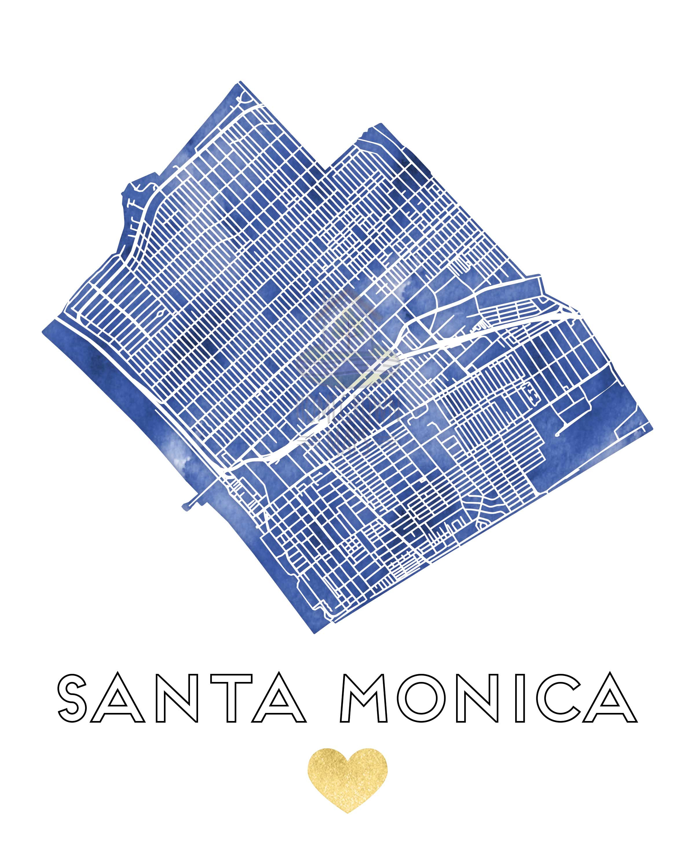 westwood santa monica map, hotel santa monica map, santa monica tourist map, 7984 santa monica blvd map, santa monica street parking, ucla santa monica map, on santa monica street map