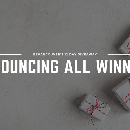Announcement: Here are all the 12-Day Giveaway winners!