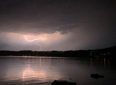 Check it out! Lightning over Gibsons