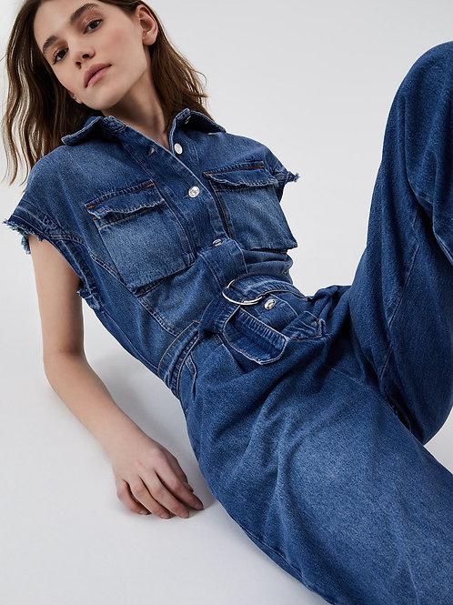Combinaison longue en jeans