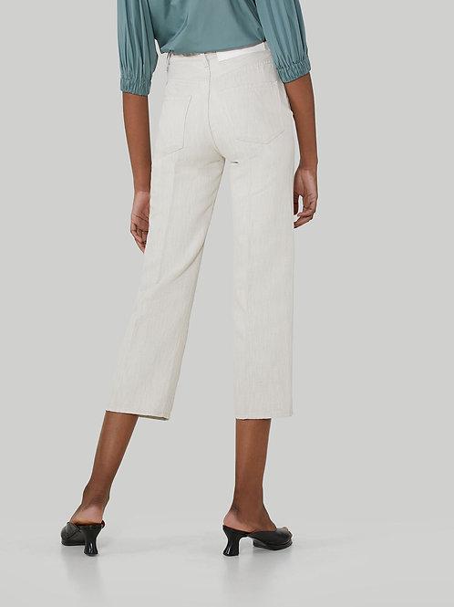 Pantalon wide en coton et lin / Trussardi