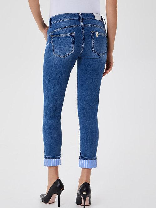 Jeans skinny avec revers Liujo