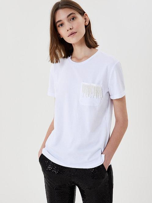 T-shirt avec application de pierres